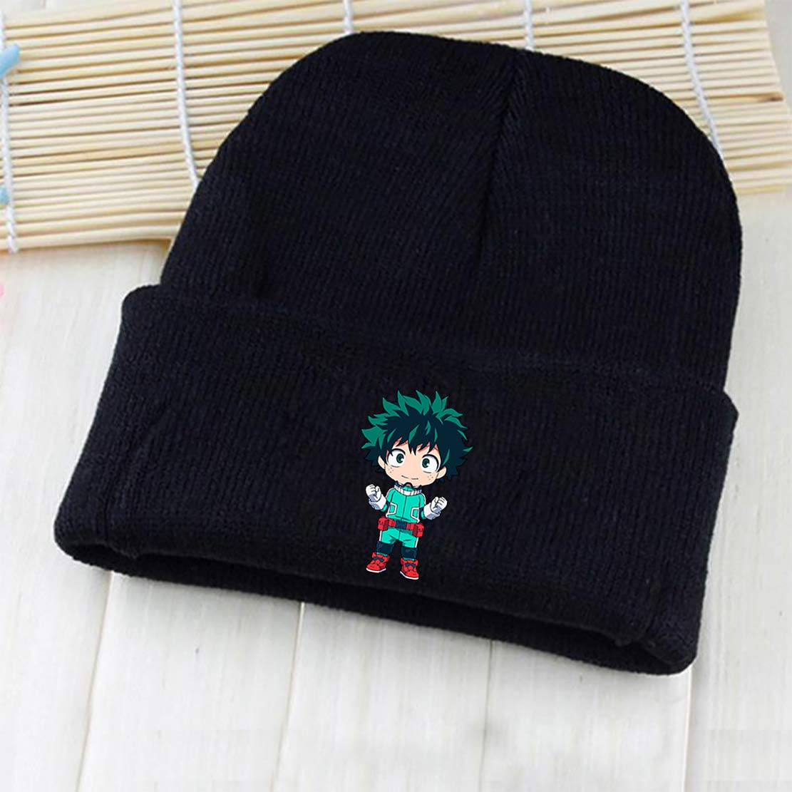 292570c6cdb My Hero Academia Izuku Midoriya Katsuki Bakugou All Might Shoto Todoroki  Tsuyu Asui Skullies Beanie Knitted Hat Cap Costume Gift-in Boys Costume  Accessories ...
