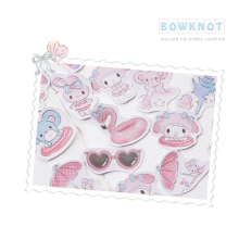 45pcs/pack Stickers Kawaii Small Stationery Seaside Holiday Boxed Girl Student Gift