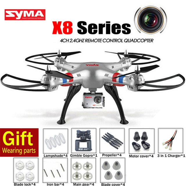 Cheappest SYMA X8G X8C X8W X8 RC Helicopter 2.4G 4CH 6-Axis Drone With Camera Professional CAM OR SYMA X8 Quadrocopter UFO UAV