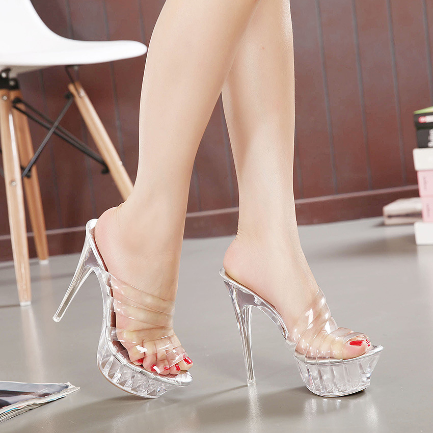 2016 summer new fashion women pumps transparent ladies high-heeled sandals faltform sexy women shoes fish mouth big size 42 43 women sandals 2017 summer gauze high heeled shoes lace fish mouth women sandals fashion summer ankle boots s069