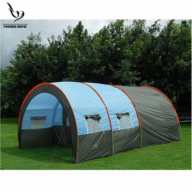 Large C&ing tent Waterproof Canvas Fiberglass 5-8 People Two-Room Family Outdoor Equipment  sc 1 st  AliExpress.com : two room tents - memphite.com