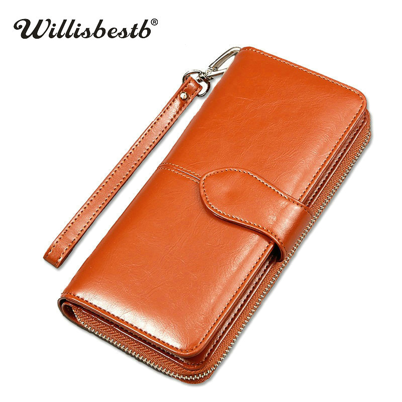 New 2018 Brand Luxury Purses Women Wallets Female Long Zipper Ladies Purse Leather Clutch Woman Wallet Phone Pocket Card Holder ...