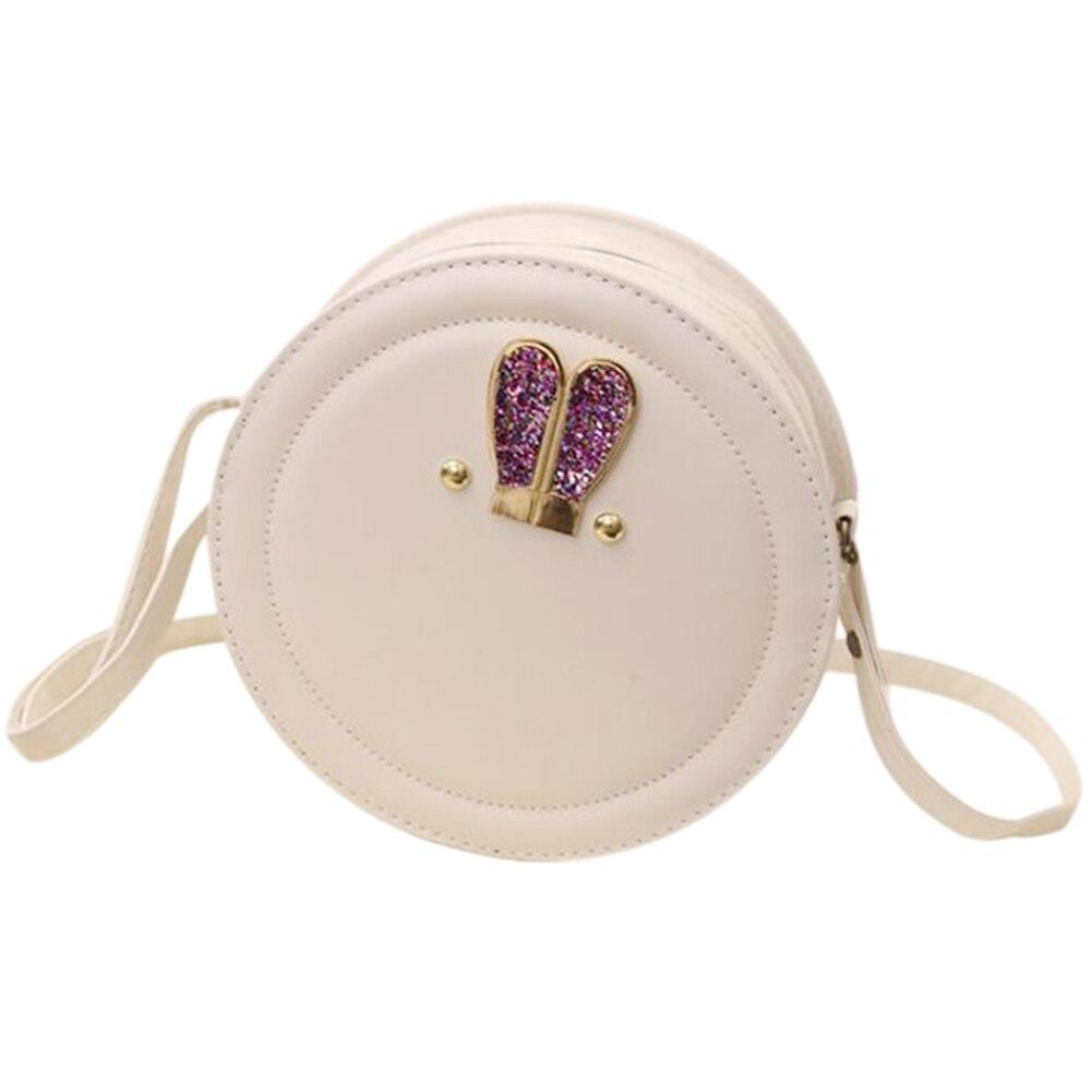 FGGS Women Messenger Bags Small Mini Crossbody Bag Circular Bag For Girls Cute Handbag (White) mini women crossbody bags small women