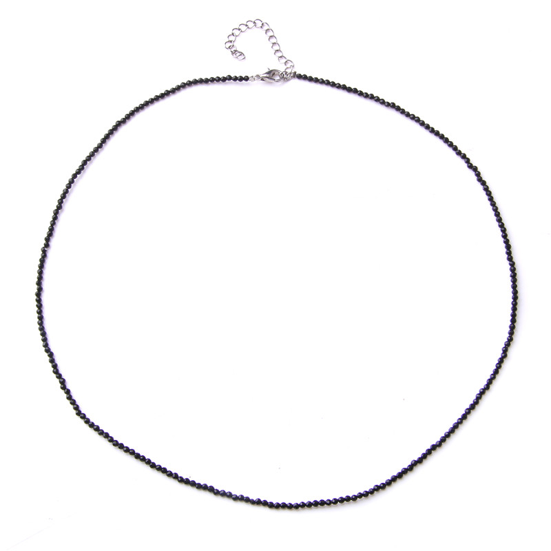 INS Simple Style Natural Tiny Gravel Black Spinels Beads Necklace Exquisite Clavicular Chain For Fashion Girl Woman Jewelry
