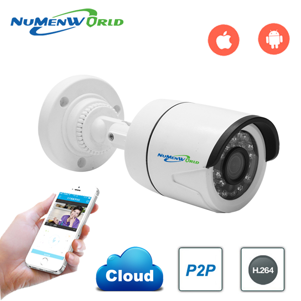 1280 x 960P 1.3MP Waterproof Bullet IP Camera 24LED Outdoor CCTV Camera ONVIF Night Vision P2P IP Security Cam with IR-Cut erika cavallini платье до колена
