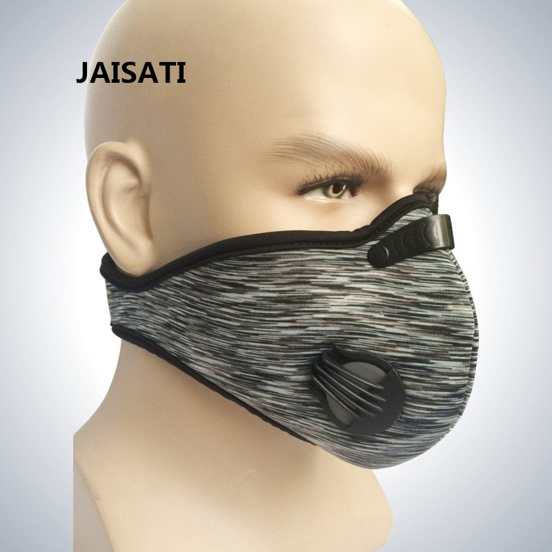 JAISATI Cycling riding masks activated carbon filter dustproof outdoor mask outdoor cycling half face mask dust windproof anti pollen allergy activated carbon masks filter sports riding running lcc