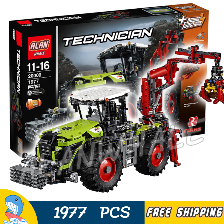 1977pcs Technic Remote Controlled CLAAS XERION 5000 TRAC VC 20009 DIY Model Building Kit Blocks Gifts Toys Compatible With lego конструктор lego technic claas xerion 5000 trac vc 1977 элементов