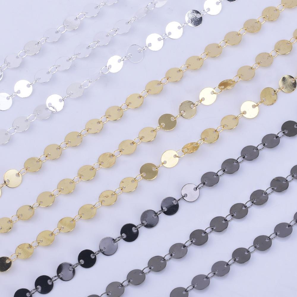 6mm Mini Disc coin chain Circle Design Chain for Necklace By THE YARD 1023646mm Mini Disc coin chain Circle Design Chain for Necklace By THE YARD 102364