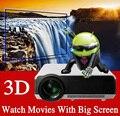 Горячие Продажи Full HD LED Видеопроекторы с 200 Вт СВЕТОДИОДНАЯ Лампа Высокой Яркости 4000 люмен, Поддержка HDMI + USB + TV