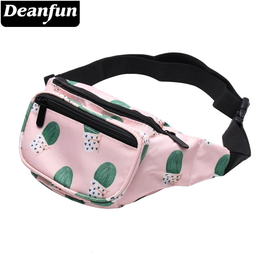 Deanfun 3D Gedruckt Kaktus Rosa Große Taille Pack Fanny Packs für Frauen Reisen Taschen DYB1