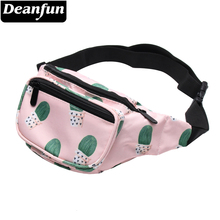 Deanfun 3D Printed Cactus Pink Big Waist Pack Fanny Packs for Women Travelling Bags DYB1