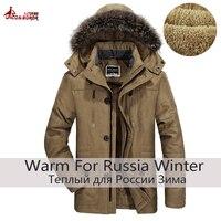 2018 plus size 5XL 6XL new warm winter jackets Men Thicken Long Cotton Padded fleece Down parka coat men hiking Jacket coat