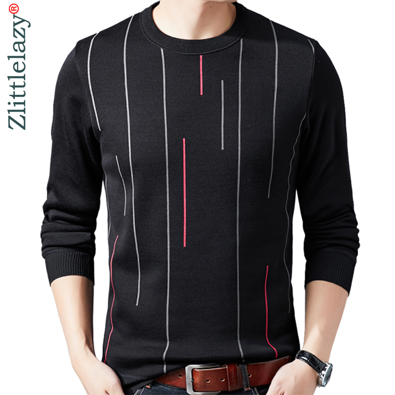 2019 Male Casual Christmas Autumn Winter Warm Pullover Men Sweater Dress Thick Knitted Men's Jersey Striped Sweaters Mens 41205
