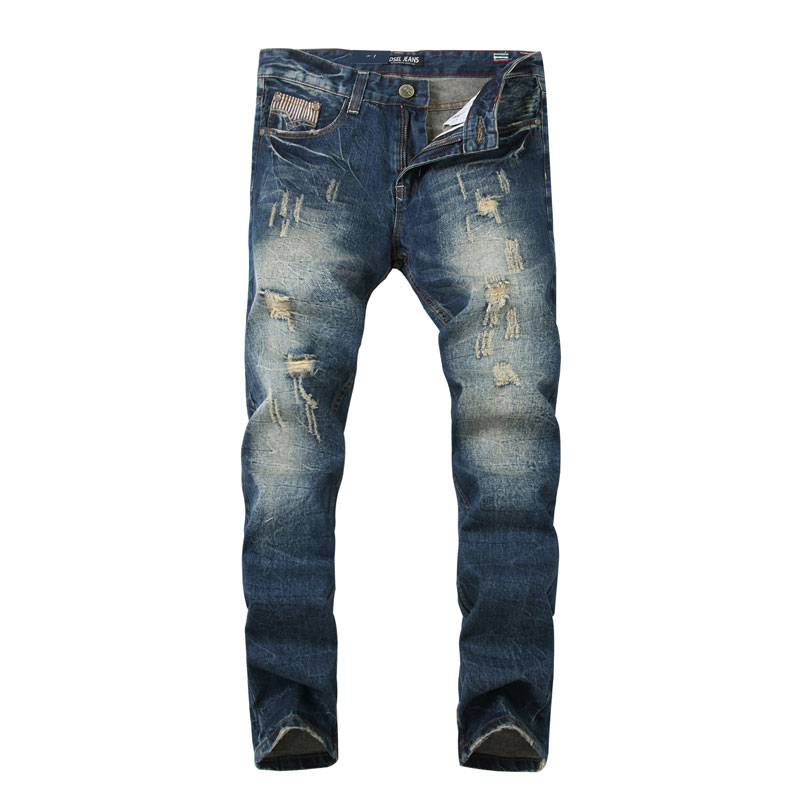 fashion designer michael kors 6nqw  2017 New Dsel Brand Men Jeans Fashion Designer Distressed Ripped Jeans Men  Straight Fit Jeans Homme,Cotton High Quality Jeans