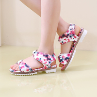 2015 Super Deal Rural Cool Summer Printing Parent Child Princess Shoes Sandals Children S Shoes For