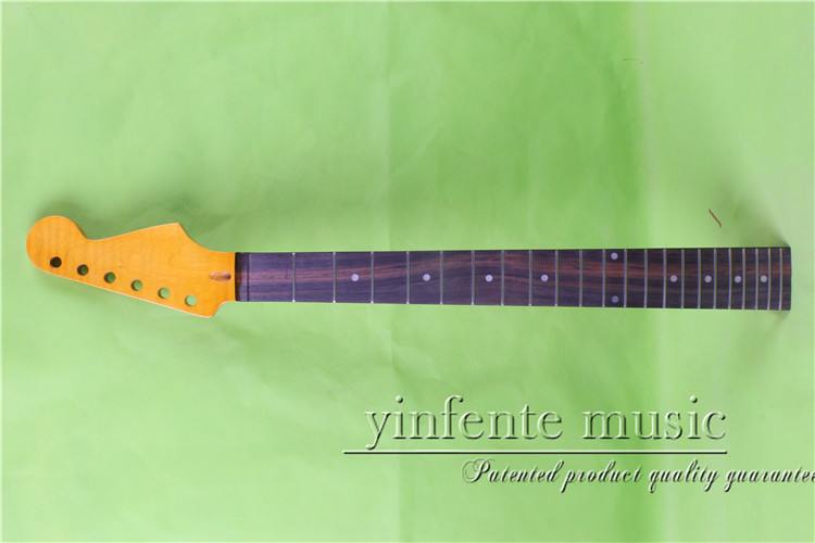 25.5 yellow color Electric guitar neck flame maple made Bolt on rose wood fingerboard fine quality 22 fret 0027# одеяло двуспальное primavelle samanta