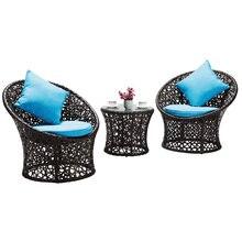 家具籐の椅子スリーピース巣ソファレジャー籐のテーブルと椅子コンビネーション