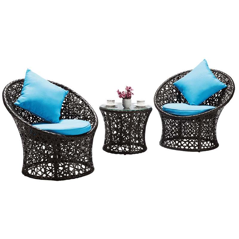 Furniture rattan chair three piece nest sofa leisure rattan table and chair combination