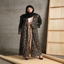 Fashion Muslim Abaya Cardigan Robes Maxi Dress Women Islamic Dubai Turkey Instant Hijab Arab Vestidos Compound