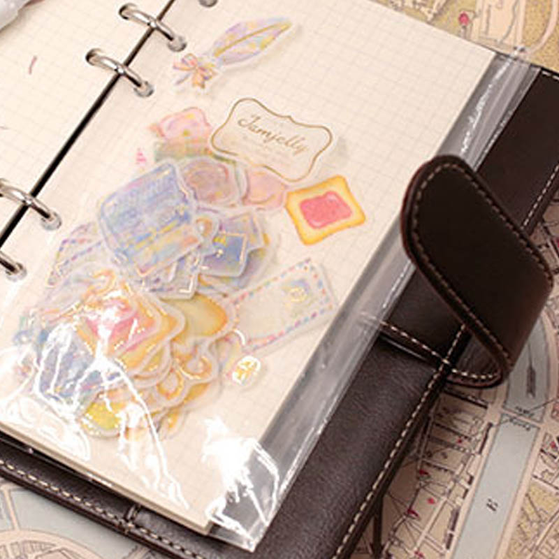 10Pcs A5 A6 Transparent PVC Storage Binding Folder For Binder Rings Notebook 6 Hole Document Bag Page DIY Loose Leaf File Holder
