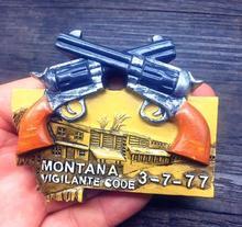 Montana code travel souvenir refrigerator stickers
