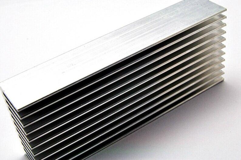 100 40 20mm article heat dissipation aluminum radiator aluminum heat sink electronic power. Black Bedroom Furniture Sets. Home Design Ideas