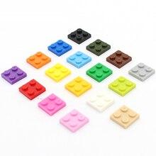 2x2 короткие кирпичные пластины DIY Enlighten MOC пластиковые строительные блоки игрушки для детей Brinquedos модель строительные блоки сборные части