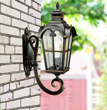 Europe style high-end upward waterproof wall lamp outdoor lamp garden lights vintage wall lamp Contains LED bulb free shipping