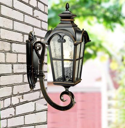 Europa stil high-end opad vandtæt væglampe udendørs lampe haven lys vintage væg lampe Indeholder LED pære gratis forsendelse
