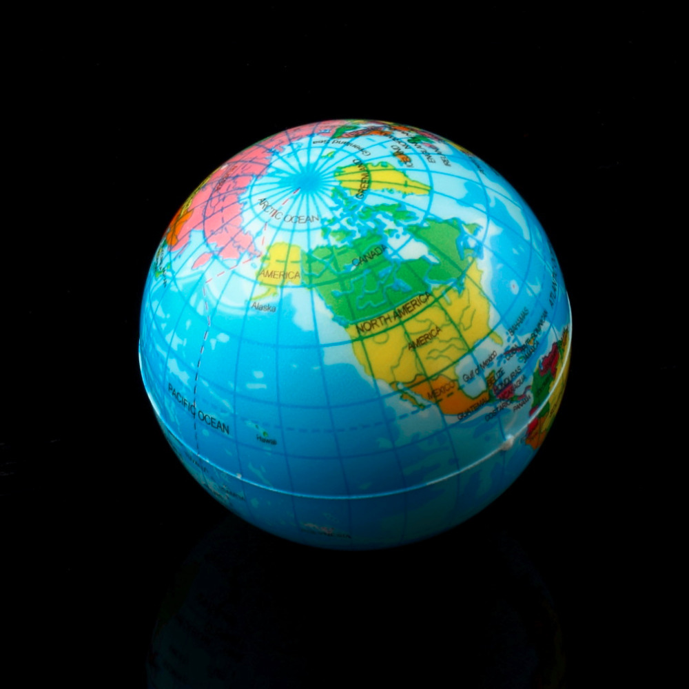 World Map Globe Ball. 3pcs World Map Foam Earth Globe Stress Relief Bouncy Ball Atlas Geography  Toy TH092 New Sale in Balls from Toys Hobbies on Aliexpress com Alibaba Hot