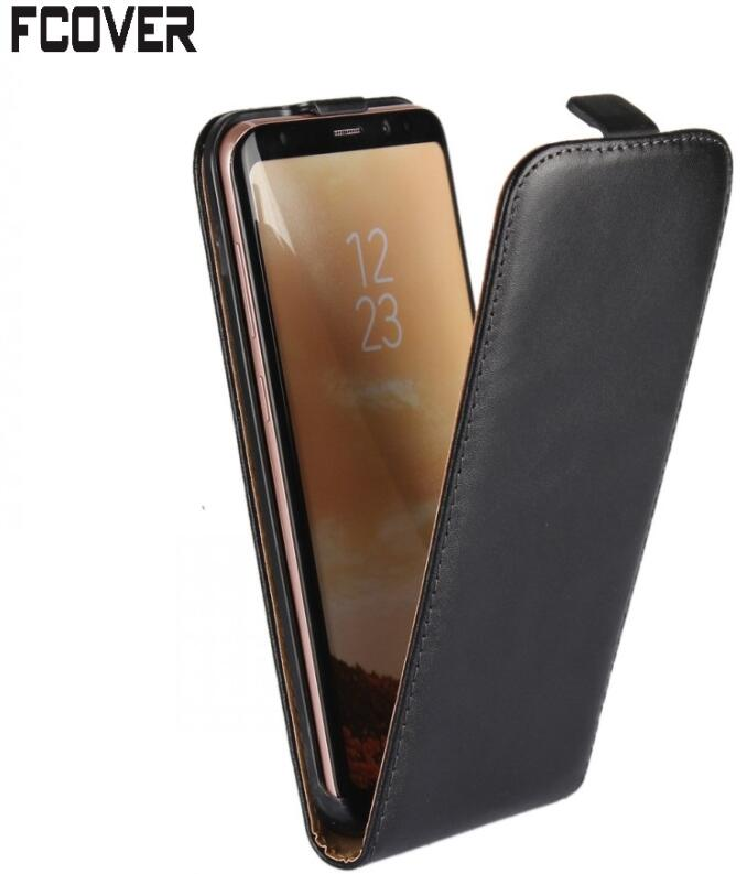 For Samsung S8 Flip case, Genuine Leather Case Pouch Shell