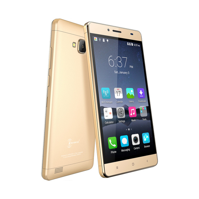 "Original kenxinda R7 ultra thin Slim Mobile Phone Smartphone 3G Spreadtrum Quad Core 5.5"" Android 6.0 1GB RAM GPS Cell Phone"