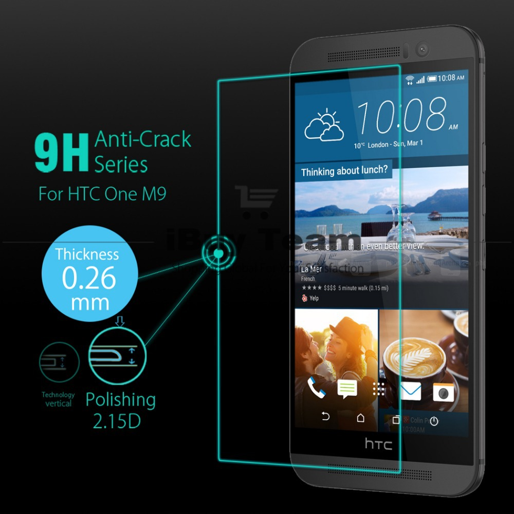For HTC One M9 5.0\'\' Tempered Glass Screen Protector for HTC M9 ...