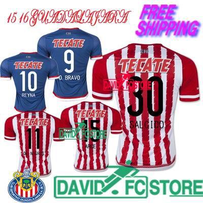 45e071b774c Chivas Guadalajara 15 16 Home away Thailand Quality fans version soccer  jersey, 2016 Mexico Chivas soccer football shirt jerseys