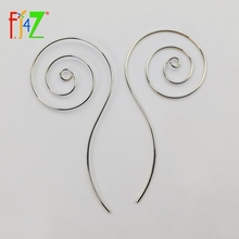 Studs Earrings Screw Wire-Pierced Spiral Metal-Style Copper Clearance-Sale Women Fashion