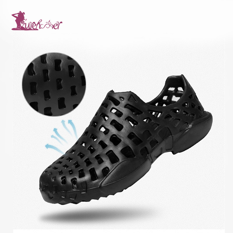 Lurehooker Summer Shoes Outdoor Sandals Holes Garden Shoes For Women Men Hollow Breathable Hiking Sandals Outdoor Beach Slippers