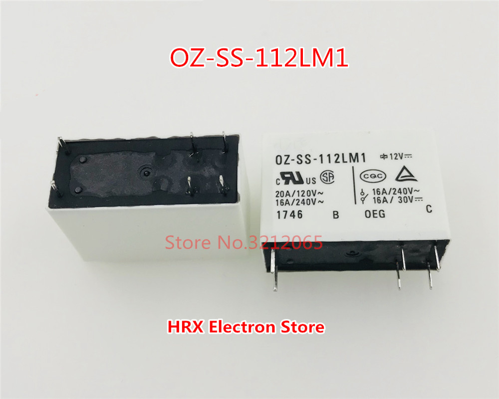 10PCS/LOT Relay <font><b>OZ</b></font>-<font><b>SS</b></font>-<font><b>112LM1</b></font> <font><b>OZ</b></font>-<font><b>SS</b></font>-124LM1 16A 6PIN New Original image