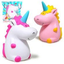 Jumbo Empuk Kawaii Kartun Unicorn Hippo Lembut Lambat Meningkat Peregangan Squeeze Kid Mainan Menghilangkan Stres Bauble Hari anak Hadiah