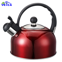 2017 Limited New Red Whistling Kettle For Gas Stove Chaleira Bouilloire Stainless Steel Whistle Tea Kettle Water Bottle