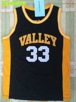 SexeMara Black Movie Indiana VALLEY 33 LARRY BIRD Jersey Throwback Cheap Embroidery High School Basketball Jerseys
