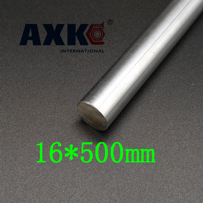Axk 16mm Linear Shaft L500mm Chrome Plated Linear Motion Rail Round Rod Shaft Cnc Parts Sfc16 chrome plated wired control plate for jazz basstotal approx 152 54 mm l