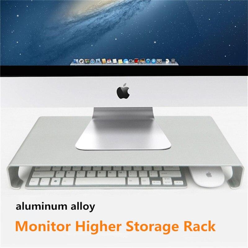 Riser Support Universel moniteur de bureau Stand En Alliage D'aluminium support pour moniteur pour apple imac avec souris du clavier De Stockage