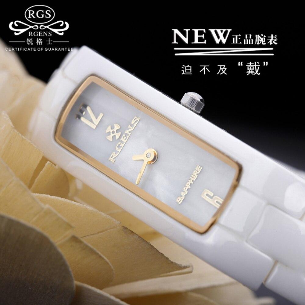 Reloj Mujer Original Women's Ceramic Luxury Quartz Watches Ladies's Casual Watches Waterproof Wrist Watches Black White Gold