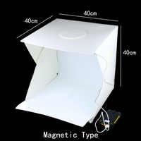 40x40x40 cm Foto Studio Box Fotografie Hintergrund Eingebaute Licht Foto Box Kleine Gegenstände Fotografie Box Studio zubehör