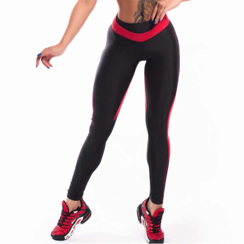 4cff43f9e9dcf Heart Shape Leggings Women New Black Red Patchwork Sporting Leggins Ladies  Push Up Workout ...