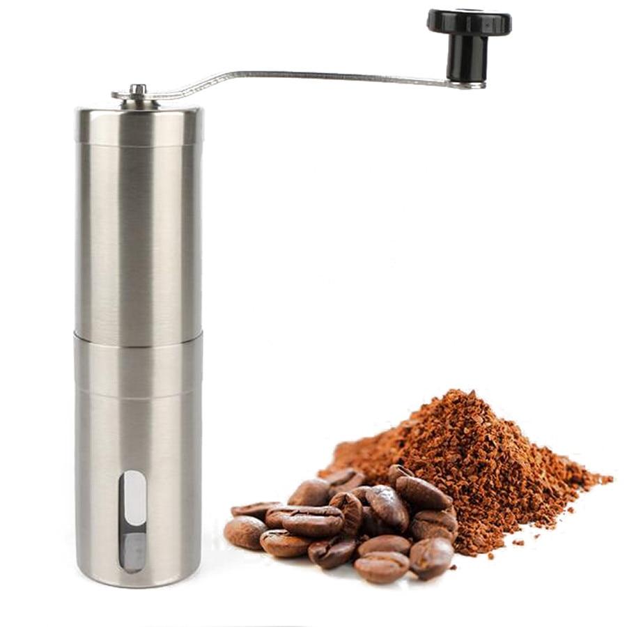 Kahve Değirmeni Paslanmaz Çelik Gümüş El Manuel El Yapımı - Elektrikli Mutfak Aletleri - Fotoğraf 2