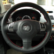 Free Shipping High Quality cowhide Top Layer Leather handmade Sewing Steering wheel covers protect For Suzuki Swift/SX4/Alto
