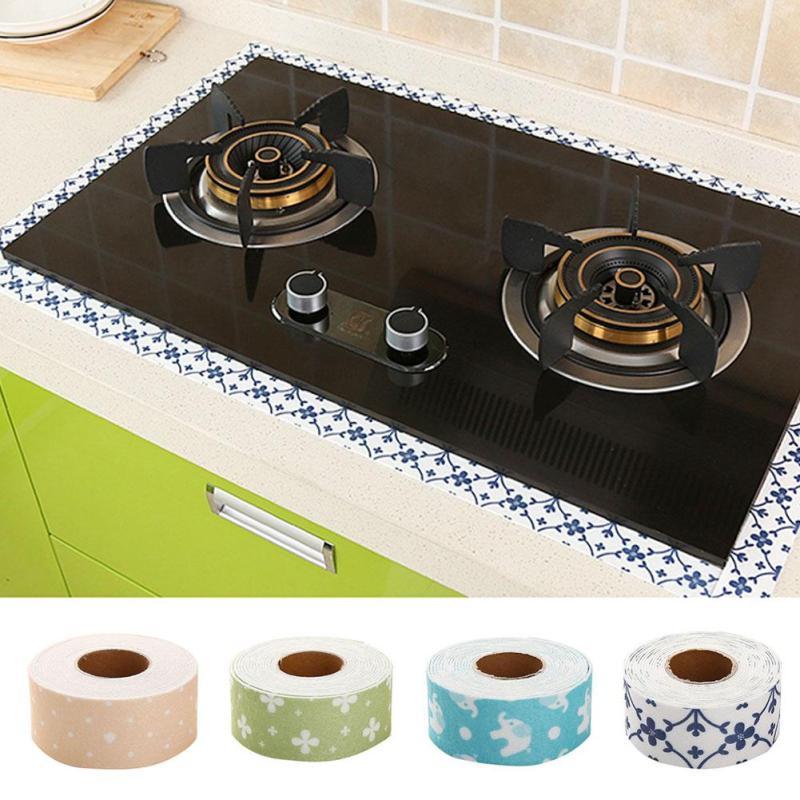 1pcs Kitchen Bathroom Corner Sink Stickers Waterproof Mildew Resistant  Stick Wall Sealing Stripe Toilet Sticker Kitchen
