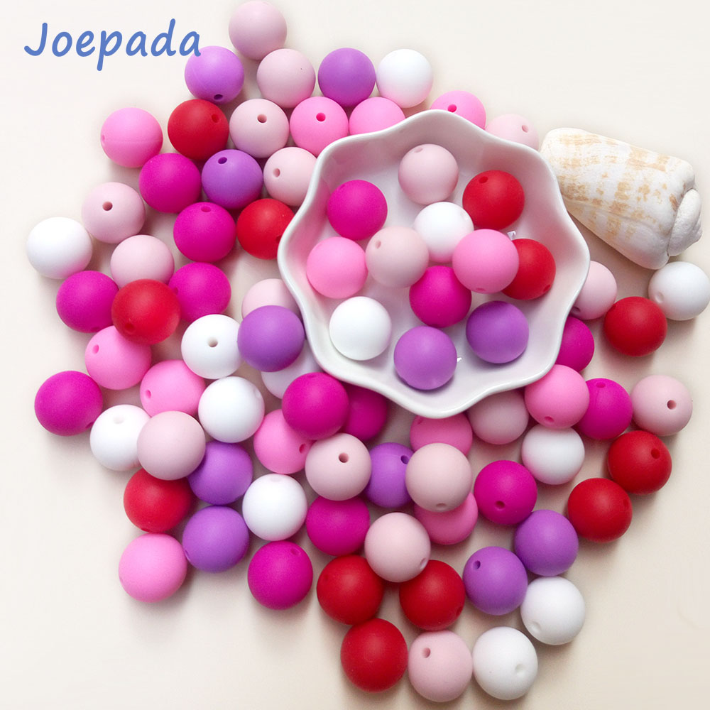 Round Teething Necklace Food-Grade Diy Baby Silicone Rodents 12mm for 300pcs/Lots Joepeada
