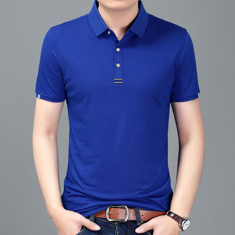 2019 New Fashions Brand   Polo   Shirt Mens Solid Color Boys Summer Slim Fit Short Sleeve British Style   Polos   Casual Men's Clothing